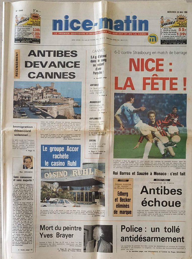 Nice Strasbourg 1990